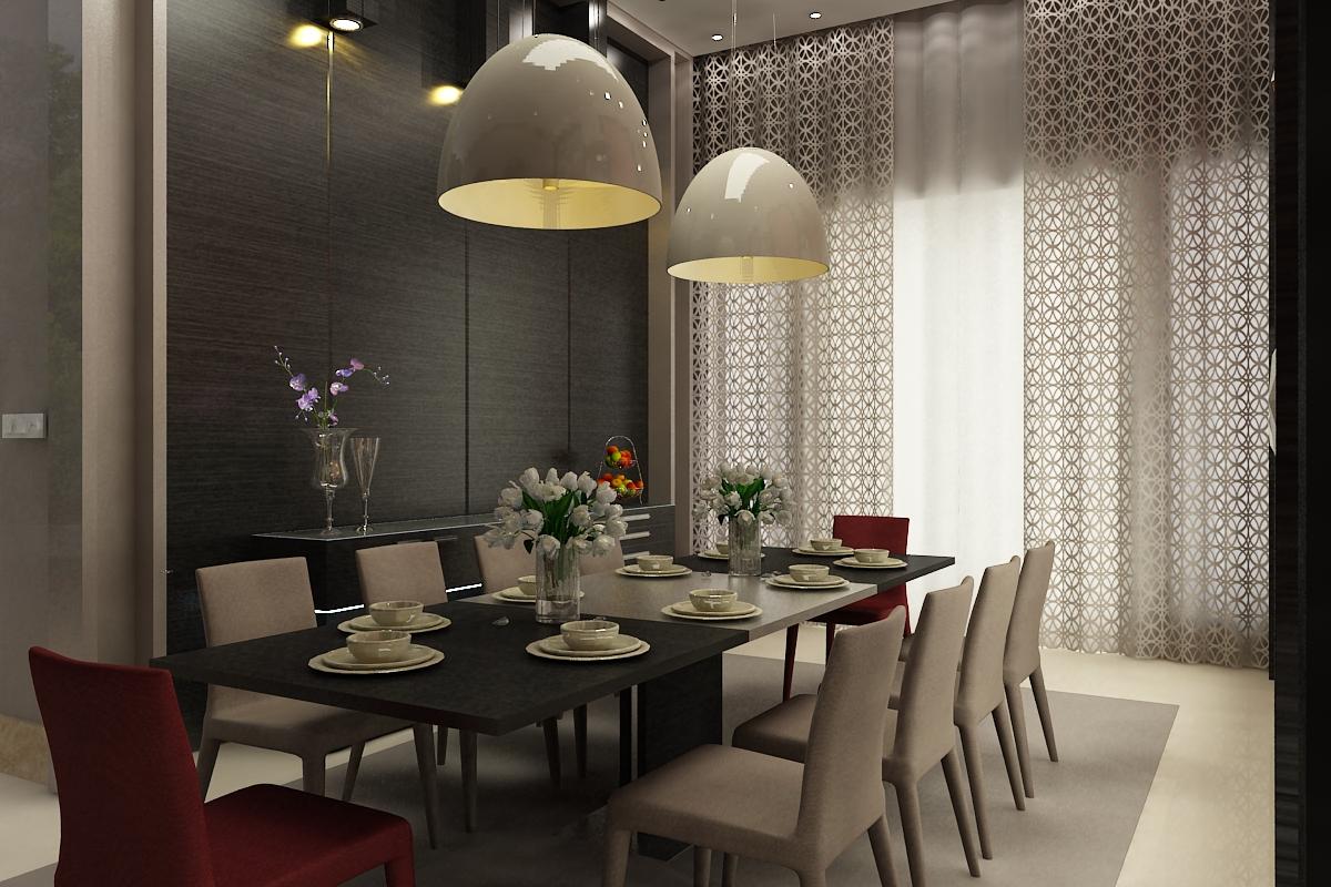 Lampu Gantung Pada Ruang Makan