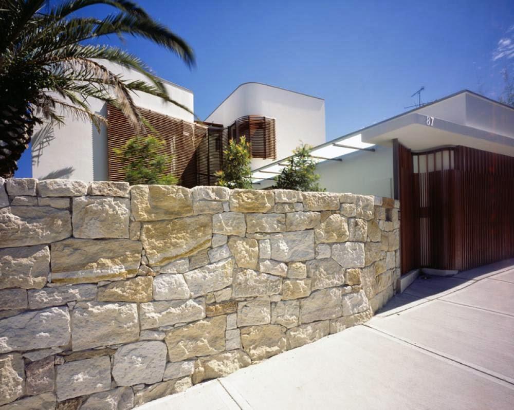 Pagar Rumah Minimalis Batu Alam