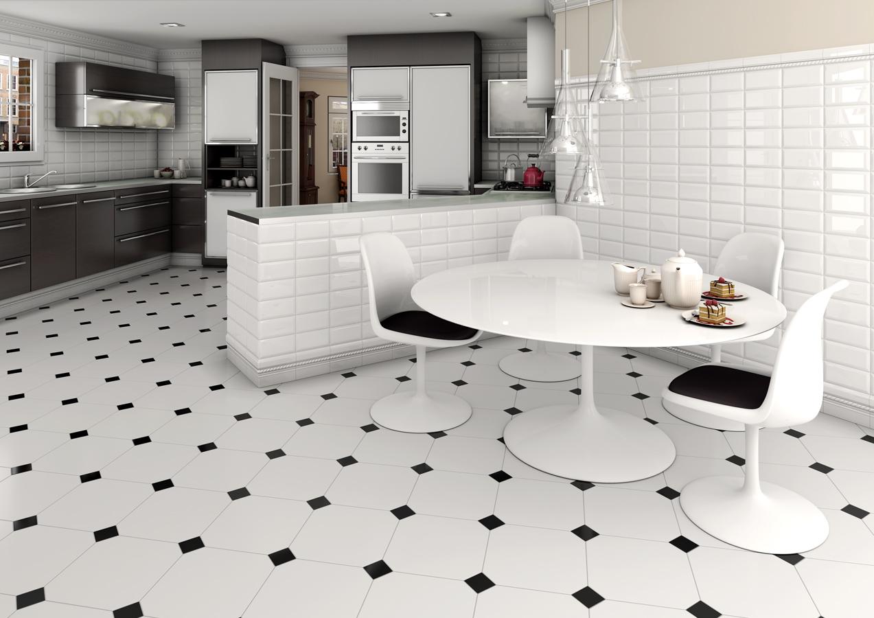 Keramik Lantai Dapur Warna Hitam Putih