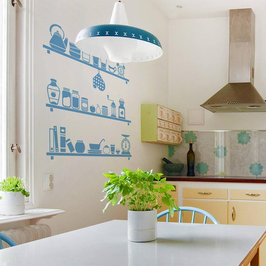 Wallpaper Dinding Dapur Biru